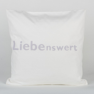Kissenhülle Sleep Positive creamy white 40cm x 40cm - WearPositive
