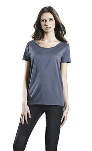 Women's Organic Open Neck T-Shirt - Continental Clothing