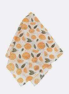 Kleines Tuch aus Bio-Baumwolle – Bandana, Pink Grapefruit 3238 - Djian Collection
