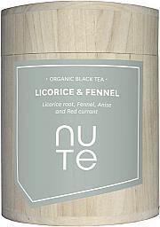 NUTE - Bio Schwarzer Tee - Süßholzwurzel und Fenchel 100g - NuTe
