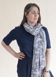Schal aus Bio-Baumwolle – Kakteen 3191 - Djian Collection