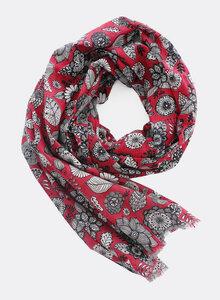 Schal aus Bio-Baumwolle – Blumen 3197 - Djian Collection