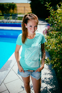 Fuchs 2.0 Women Organic T-Shirt _ turquoise - ilovemixtapes