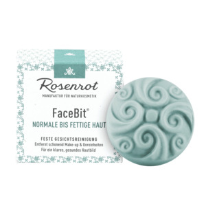 FaceBit® - festes Waschgel - Normale bis fettige Haut - 50g - Rosenrot Naturkosmetik