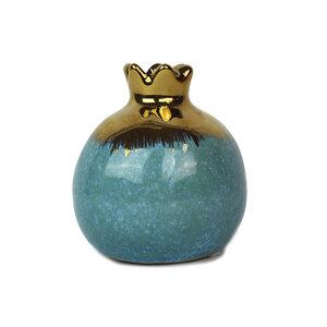 Vase aus Keramik Granatapfel blau - Mitienda Shop
