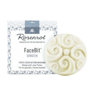FaceBit® - festes Waschgel - Sensitiv - 50g - Rosenrot Naturkosmetik
