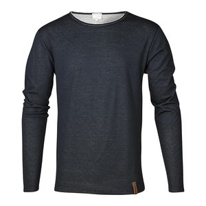 Langarmshirt - Double Layer Long Sleeve Tee - blau - KnowledgeCotton Apparel