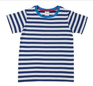 Kurzarmshirt gestreift blau weiß - People Wear Organic
