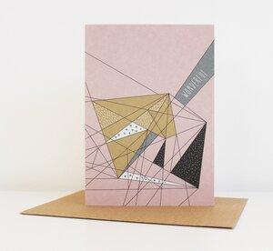 "Grußkarte ""Wonderful"" - ava&yves"