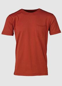 Basic Tee With Chest Pocket Red - KnowledgeCotton Apparel