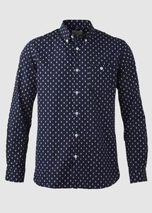 Printed Owl Shirt Total Eclipse - KnowledgeCotton Apparel