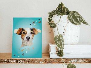 Jack Russel Hund, Postkarte DIN A6 - Printe