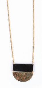 Halskette Bawa aus recyceltem Kuhhorn und Messing - El Puente