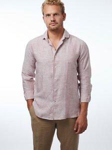Shirt Linen Stripes Rust Navy - CARPASUS