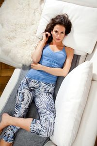 Athletic Pant - Yoga Hose mit Winter Ice Print - Mandala