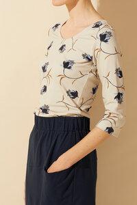 Langärmliges Damenshirt mit Blumenprint - Ewa - MINU