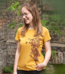 Pflanzen&Kolibri - fair gehandeltes Damen T-Shirt - Baumwolle Bio Slub - päfjes
