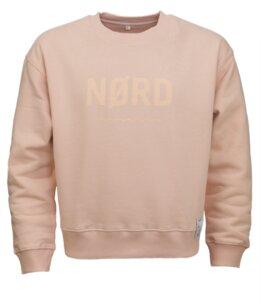 NØRD / Sweatshirt, rose , Biobaumwolle, leuchtender Print - Waterkoog
