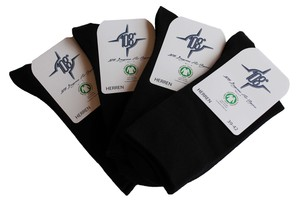4er Pack Herren Socken schwarz GOTS - 108 Degrees