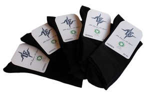 5er Pack Herren Socken schwarz GOTS - 108 Degrees