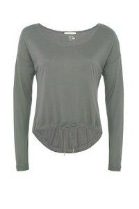 Dance Sweater Langarmshirt - Grüngrau - Mandala