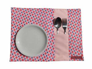 1x Upcycling Platzset pink á 2 Stück - Bärsönliches
