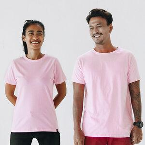 Basic Unisex T-Shirt (Bio-Baumwolle) in Pink/Weiß/Schwarz/Marineblau - The Driftwood Tales