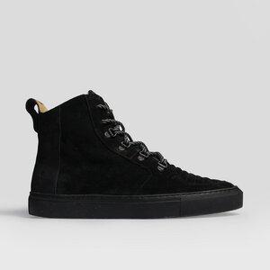 argan high / schwarzes wildleder / schwarze sohle - ekn footwear