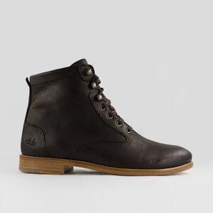 desert high / braunes geöltes glattleder / ledersohle - ekn footwear