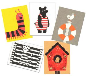 5 tierische Grußkarten - Lisa Jones