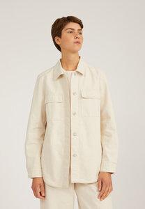 PRISHAA UNDYED - Damen Overshirt aus Bio-Baumwoll-Leinen Mix - ARMEDANGELS