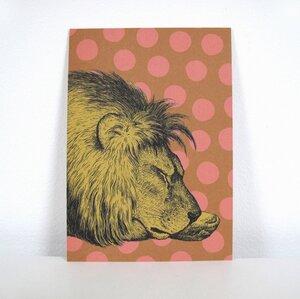 Postkarte Schlafender Löwe - ava&yves