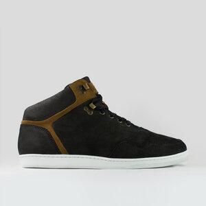 high seed / schwarzes geöltes glattleder / weiße sohle - ekn footwear