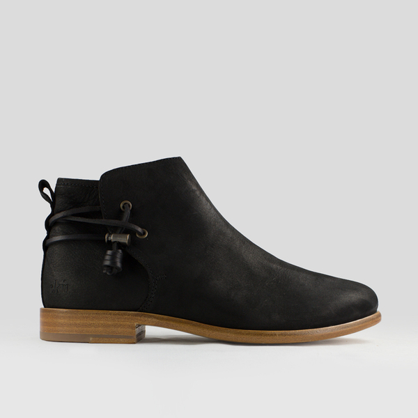 Ekn footwear rosewood rosewood rosewood   schwarzes geöltes glattleder   ledersohle e88330