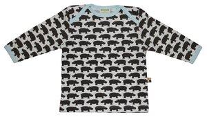 Langarm-Shirt mit Nilpferden - loud + proud