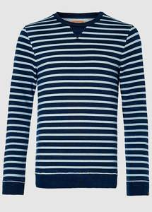 Brian Indigo Stripe Sweat - Kuyichi
