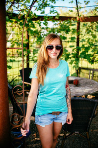 Basic Women Organic T-Shirt _ turquoise - ilovemixtapes