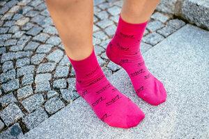 Paperboat Socken raspberry // Unisex // Bio & Fair - ilovemixtapes