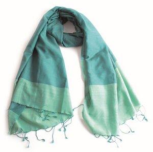 Handgewebter Schal aus Seide und Baumwolle - El Puente