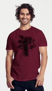 Bio-Herren-T-Shirt Chestnut - Peaces.bio - handbedruckte Biokleidung