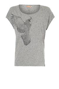 Violet Tee Mid grey - Damen T-Shirt - Kuyichi