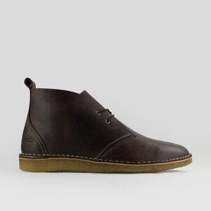 Max Herre / Braunes geöltes Glattleder / Crepe Sohle - ekn footwear