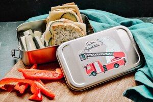 Edelstahl SET Lunchbox & Trinkflasche Guten Appetütata - tindobo