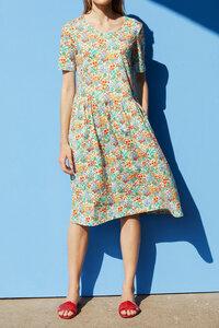 Sommerkleid mit Blumenprint Knielang - Josi - ROSALIE
