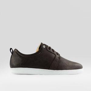 birch / braunes glattleder / weiße sohle - ekn footwear