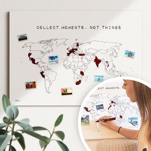 Die SCRATCH MAP Alternative - nachhaltig & handemade- Reiseweltkarte - meine-weltkarte