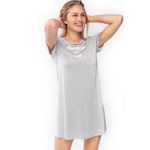 Damen Sleepshirt Nachthemd Bonjour Sleepy & Easy Grau FSC - Mey