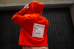 "Hoodie Jacke ""Everything will be alright"" mit Zipper - ALMA -Faire Streetwear & Schmuck-"