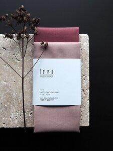 2 Stofftaschentücher aus Biobaumwolle - treu