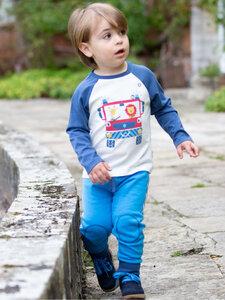 Baby und Kinder Langarm-Shirt Fire Engine reine Bio-Baumwolle - Kite Clothing